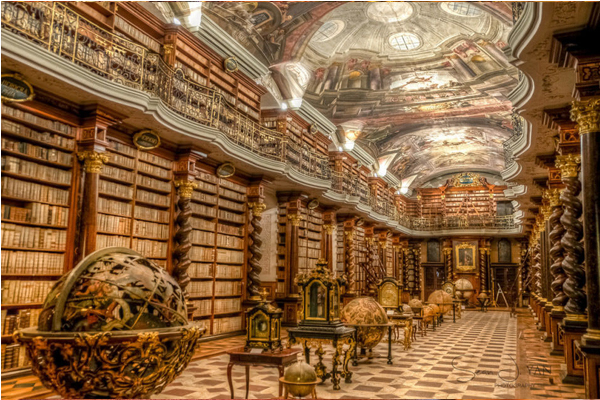 世界最美的圖書館Baroque Library Hall。(圖片來源/placestoseeinyourlifetime)